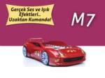 www.dekorsanal.com / Arabalı Yatak M7 Kırmızı