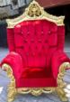 vizyonev / oymalı kral koltuğu
