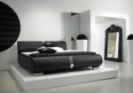 Royal meubel Boxsprings & Matrassen / Lynes black bed deri kapli yatak