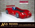 .AXA WOISS Meubelen / Araba Tasarımlı Ferrari kırmızısı çocuk odası karyolası