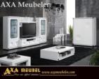 ****AXA WOISS Meubelen / Modern ve şık tasarımlı avantgarde beyaz parlak tv duvar ünitesi