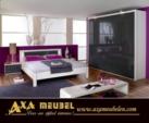 .AXA WOISS Meubelen / gri beyaz renkli modern Yatak Odası takımı