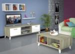 Özüçler Mobilya / Ardino Cordoba Beyaz Tv Sehpası+Orta Sehpa+ Duvar Rafı+ Kitaplık