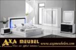 .AXA WOISS Meubelen / harika tasarımı ile mükemmel parlak swaovski taşlı yatak odası