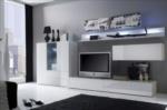 MMZ WONEN / modern italyan design televizyon sehpasi - beyaz parlak duvar unitesi - lambali dolaplar
