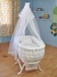BEBEKONFOR BEŞİK MOBİLYA İMALAT & TEKSTİL  / BEBEKONFOR Dora Beyaz İtalyan Style Bebek Besik