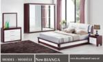 Royal Meubel & Bedden & Boxsprings / New Bianca Mdf kalite Bazali yatak odasi takimi