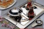 Alkapıda.com / Nehir Nokta Saten 28 Parça Çay Seti Bardaksız