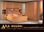 .AXA WOISS Meubelen / Köşe dolaplı kayın rengi ergonomik yatak odası takımı