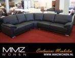 MMZ WONEN / modern rahat kose koltugu - kumas veya sunni deri - siyah beyaz - metal ayakli
