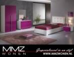 MMZ WONEN / modern cocuk odasi takimi - parlak pembe beyaz design