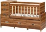 ERMODA Modüler Mobilya / Ermoda Sedef 60x120 Beşik - Ceviz