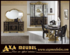 .AXA WOISS Meubelen / altın renkli harika tasarımı ile klasik parlak lüx yemek odası takımı
