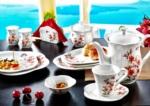 Alkapida.com Türkiye / Noble Life 38 Parça Yasemin 6 Kişilik Porselen Kahvaltı Takımı 16462