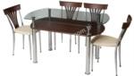 Pergel Camlı Mutfak Masası
