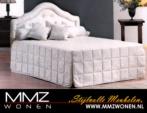 MMZ WONEN / modern design beyaz karyola - bol yastikli - tirabzanli