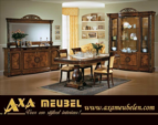 .AXA WOISS Meubelen / italyan tarzı parlak klasik fındık rengi yemek odası