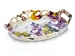 Alkapida.com Türkiye / Noble Life Violet Garden Dik Kenarlı Oymalı Tepsi 17650