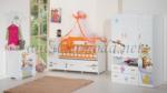 ERMODA Modüler Mobilya / Ermoda Sedef Friends Special Asansörlü 60x120 Bebek Odası Takımı