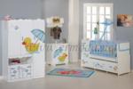 ERMODA Modüler Mobilya / Ermoda Sedef Sleeper Special Asansörlü 60x120 Bebek Odası Takımı
