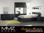 MMZ WONEN / modern mese yatak odasi takimi - krom ayakli - surgulu buyuk aynali dolap -