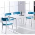 Özüçler Mobilya / Mercan Mavi Beyaz Ahşap Mutfak Masa Takımı