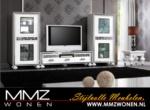 MMZ WONEN / klasik design televizyon sehpasi ve beyaz vitrinler - klasik detayli isleme