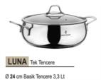 Alkapıda.com / Sofram Luna Tek Basık Tencere 24 cm 3,3 Lt