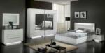 Royal Meubel & Bedden & Boxsprings / Bianco light Beyaz parlak Yatak odasi takimi