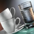 Alkapida.com Türkiye / Kütahya Porselen Açelya 6 Kişilik Su Bardaklı Kahve Fincan Takımı