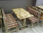 Cafe Masa Sandalye / Ahşap Sedir Takımı