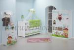 ERMODA Modüler Mobilya / Ermoda Sedef Bee Baskılı Bebek Odası Takımı KARGO ÜCRETSİZ