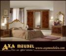 .AXA WOISS Meubelen / italyan tarzı barok parlak fındık rengi yatak odası takımı  55 7948