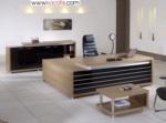 KOÇ OFİS büro mobilyaları ariete design / ALAÇATI ÇIZGILI YÖNETICI MASA TAKIMI DOLAP DAHIL 236 CM
