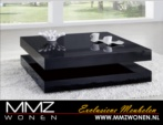 MMZ WONEN / lux parlak siyah orta masasi - italyan design