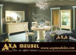 altın renkli harika tasarımı ile klasik parlak lüx yemek odası takımı