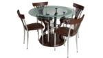 EVGÖR MOBİLYA / Yuvarlak Camlı Mutfak Masası