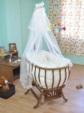 bebekonfor bebek beşikleri /  Krem Fransız Uyku Seti beşik hariç