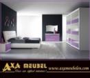 .AXA WOISS Meubelen / lila beyaz renkli modern yatak odası takımı  55 7920