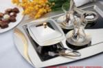 Alkapıda.com / Nehir  Kuşkanadı Saten 40 Parça Çay Seti