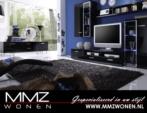 MMZ WONEN / Modern italyan design duvar unitesi televizyon sehpasi - asmali dolap - parlak siyah