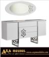 .AXA WOISS Meubelen / işte bu harika.... parlak beyaz modern yemek odası takımı 54 8623