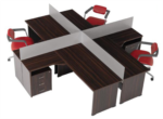 Yılmaz Ofis Mobilyaları / Dörtlü Çalışma Masası