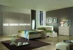 MMZ WONEN / modern yatak odasi takimi - italyan design - parlak beyaz - metal ayaklar