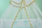 bebekonfor bebek beşikleri / Altın Biye işlemeli tül cibinlik