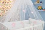 bebekonfor bebek beşikleri / Yıldız aplike işlemeli tül cibinlik