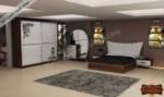 mobilyaminegolden.com / İnci Ceviz Yatak Odası