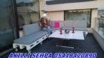 SehpamAkıllı / Akıllı sehpa üst tabla mdf parlak beyaz alt mekanizma krom nikalaj kaplama
