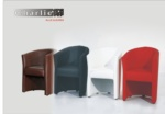 MMZ WONEN / italyan design sandalyeler - deri kumasli siyah beyaz modern model