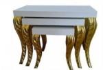 arge mobilya  / klasik altın varak zigon sehpa